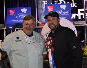 Scott McRae winner of Royal Chef Challenge