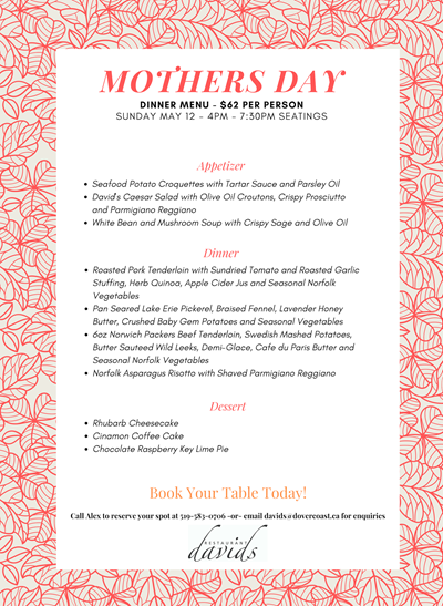 Mothers Day 2019 Dinner