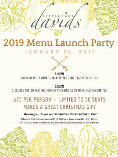 2019 Menu Launch Party
